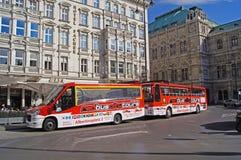 Fermata dell'autobus turistico di Vienna fotografia stock libera da diritti