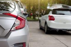 Fermata dell'automobile della parte nel parcheggio immagine stock libera da diritti
