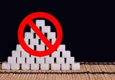Fermata dello zucchero bianco Immagini Stock Libere da Diritti