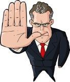 Fermata di rappresentazione dell'uomo d'affari Immagini Stock Libere da Diritti