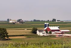 Ferme amish sur Sunny Day 2 photo stock
