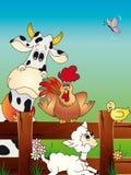 ferme animale de dessin animé Photographie stock libre de droits
