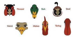 Ferme avicole plate d'icône illustration libre de droits