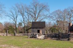 Ferme coloniale d'ère dans Yorktown, VA photos stock
