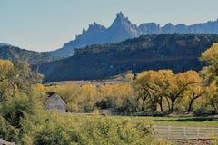 Ferme d'automne de l'Utah Images stock