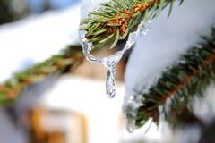 Ferme dans la neige image libre de droits