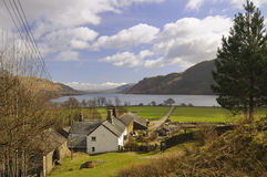 Ferme de district de lac, Ullswater Photographie stock libre de droits