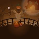 Ferme de Halloween Images libres de droits