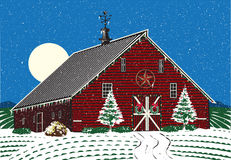 Ferme de Noël Photos stock