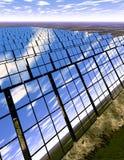Ferme de panneau solaire dans la campagne Illustration de Vecteur