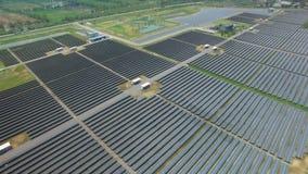 Ferme de pile solaire Photographie stock libre de droits