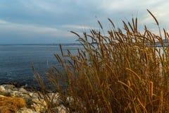 Ferme de réservoir ci-dessus de coucher du soleil Photographie stock libre de droits