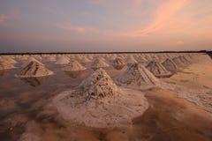 Ferme de sel, casserole de sel en Thaïlande Image libre de droits