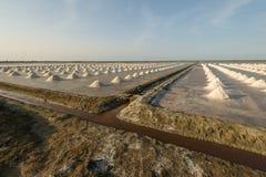 Ferme de sel en Thaïlande Photographie stock