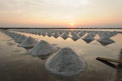 Ferme de sel en Thaïlande Image libre de droits