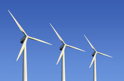 Ferme de turbine de vent Photographie stock libre de droits