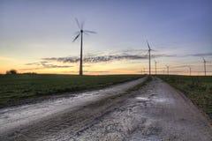 Ferme de turbine de vent Photographie stock
