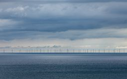 Ferme de vent Brighton en mer Photos libres de droits