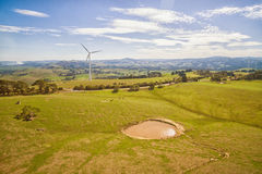 Ferme de vent dans l'Australie Photographie stock libre de droits
