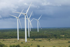Ferme de vent en Estonie Images stock