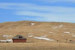 ferme du Canada de construction d'Alberta Images libres de droits