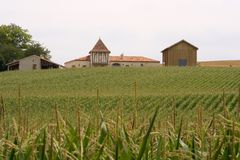 Ferme en France, ouest du sud Photo stock