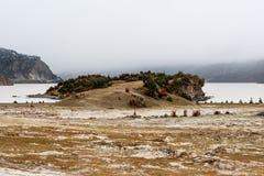 Ferme en montagne, Thibet, Chine images stock