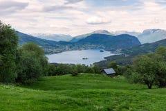 Ferme en Norvège images libres de droits