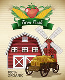 Ferme fraîche illustration stock