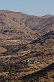 Ferme historique dans le Karoo, Afrique du Sud Photo stock