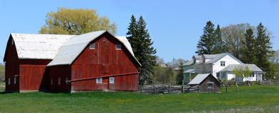 Ferme panoramique Images stock