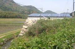 Ferme solaire de campagne japonaise Photos libres de droits