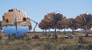 Ferme solaire nettoyant l'Australie de Carwarp Photo stock