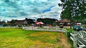 Ferme suisse de moutons, Hua Hin Thailand photo stock