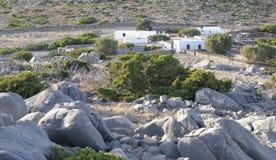 Ferme sur l'île de Levitha Image libre de droits