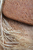 Ferment bread. On home ear of wheat grain wheat Stock Photography