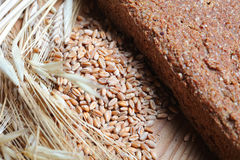 Ferment bread. On home ear of wheat grain wheat Royalty Free Stock Photos