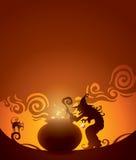 Fermentação das bruxas ilustração royalty free