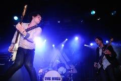 A fermentação (grupo rock britânico) executa no clube do biquini Imagens de Stock