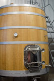 Fermentadora de madera para el vino Foto de archivo libre de regalías