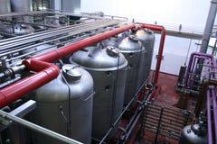 Fermentaiontanks van de wijn Stock Foto
