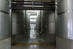 Fermentatin Tanks Winery Stock Photos