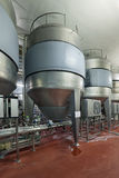 Fermentation department. Brewing production - fermentation department, the interior of the brewery, nobody Royalty Free Stock Photography