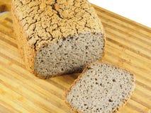 Fermented buckwheat bread. Gluten-free fermented buckwheat bread on cutting board Royalty Free Stock Image