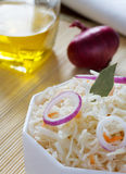 Fermented cabbage - Sauerkraut with herbs and spices Royalty Free Stock Photo