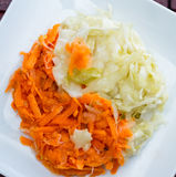Fermented carrots and cabbage Stock Image