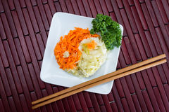 Fermented carrots and cabbage Stock Photography