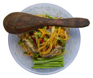 Fermented papaya salad ladle Royalty Free Stock Photos