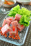 Fermented pork. Thai fermented pork with peanut and vegetable Stock Images