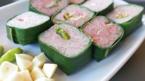 Fermented pork or sour pork. Vietnamese food Royalty Free Stock Photography